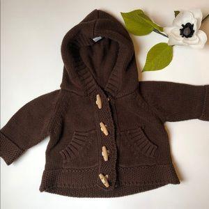 Beba Bean knitted brown hoody and pants